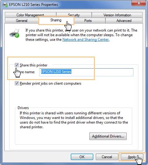 share printer windown7_11