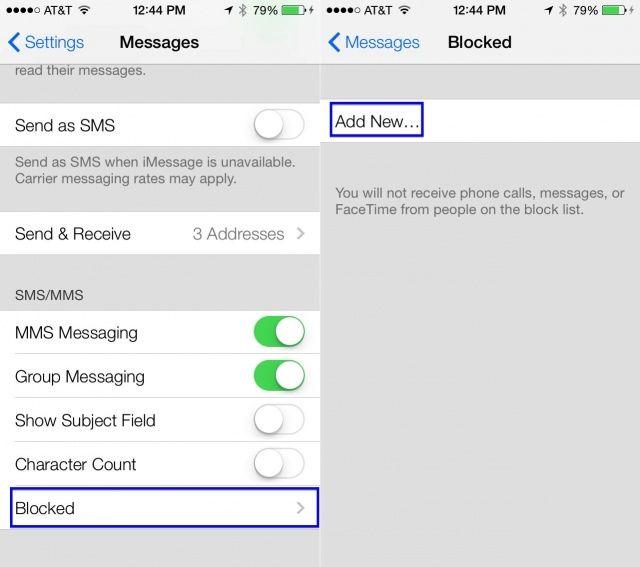 Block Numbers iOS 7