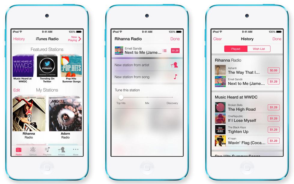 iTunes Radio iOS 7