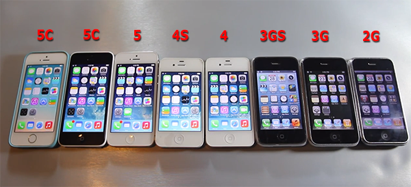 iphone รุ่นต่างๆ