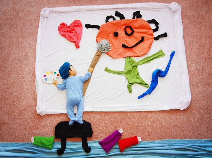 Mother-Creates-Adorable-Adventures-for-Her-Sleeping-9
