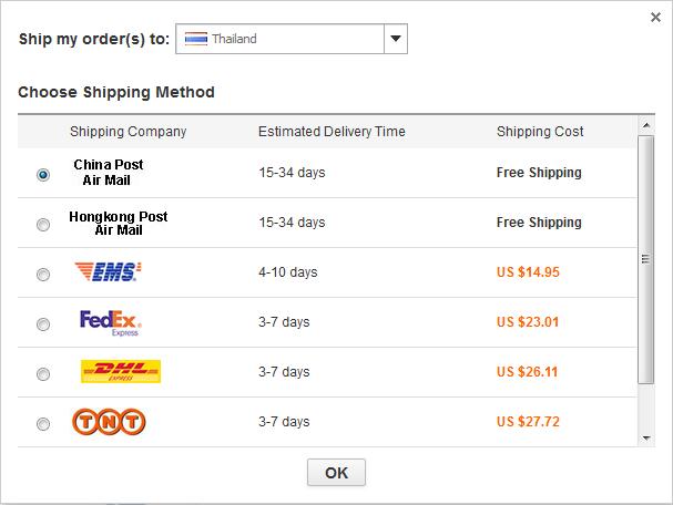 aliexpress shipping