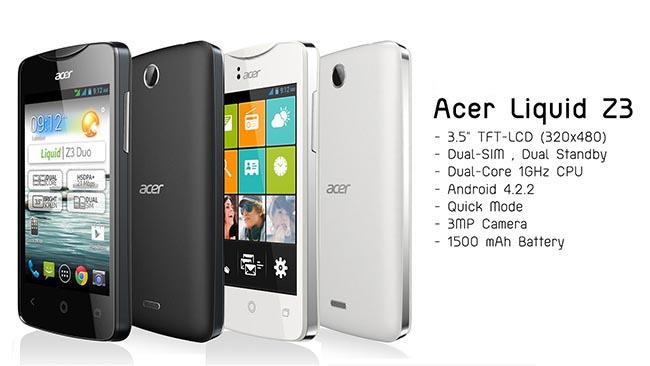 Acer Liquid Z3s 1