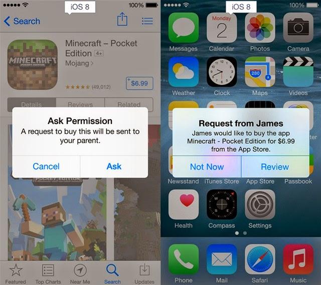 iOS 8 and iOS 7 Parental controls