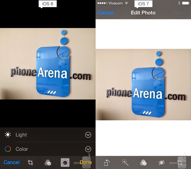 iOS 8 and iOS 7 Photo editing