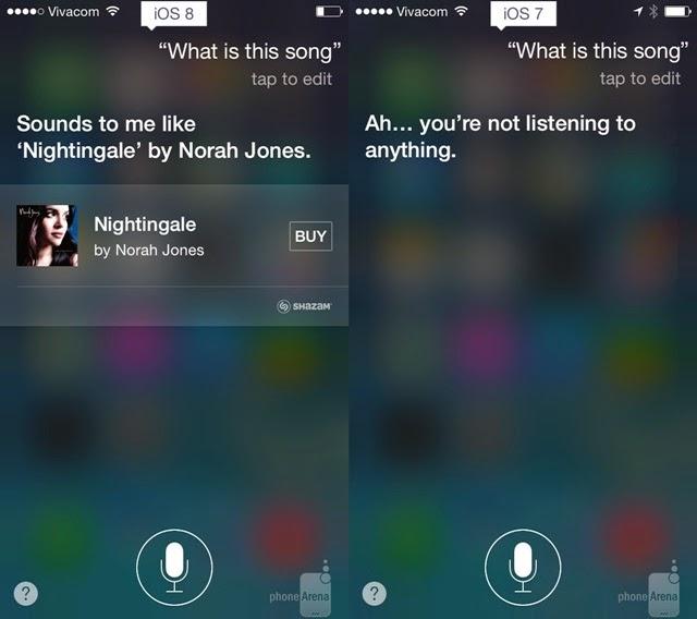 iOS 8 and iOS 7 Siri meets Shazam