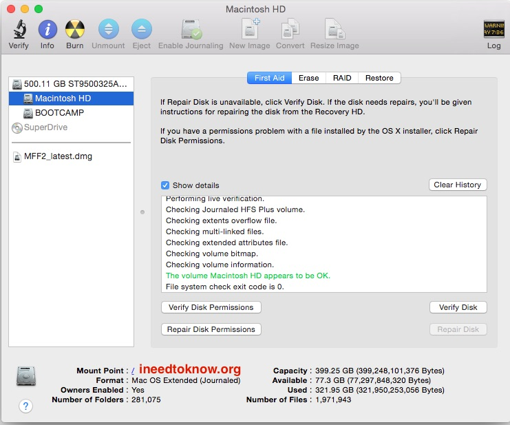 check health disk mac