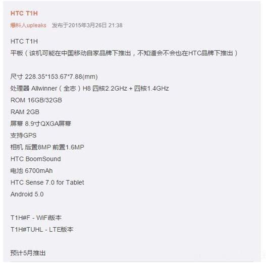 HTC T1H test 1