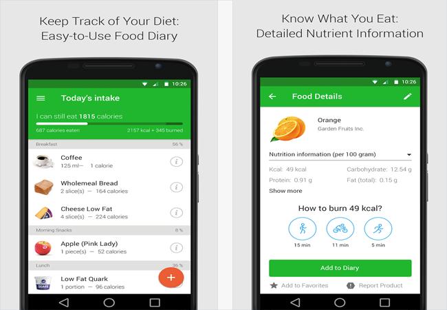 App คํานวณแคลอรี่ Android 5
