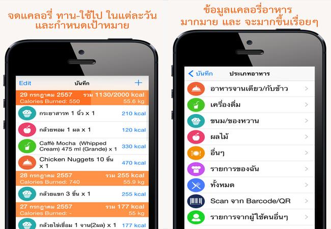 app คํานวณแคลอรี่ iphone